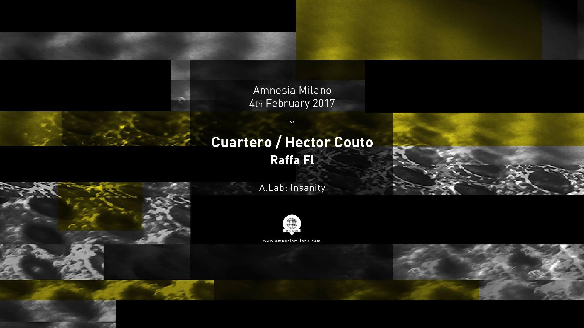 Cuartero – Hector Couto – Amnesia – 4 Febbraio 2017 – Ticket – Pacchetti Hotel