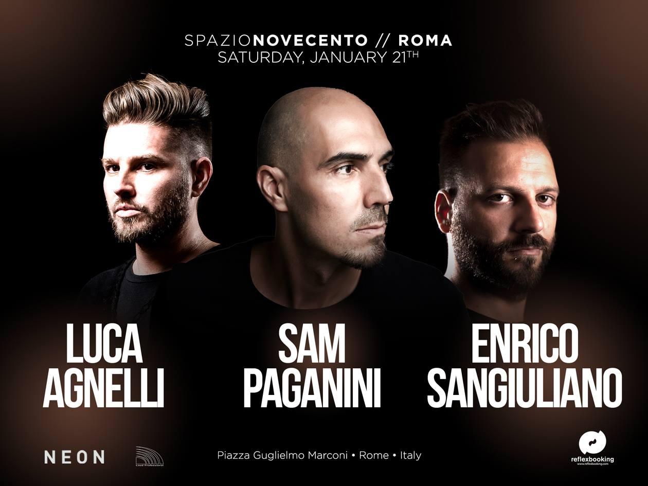 SAM PAGANINI – SPAZIO 900 – ROMA – 21 Gennaio 2017 – PREVENDITE – TAVOLI – PACCHETTI HOTEL + INGRESSO