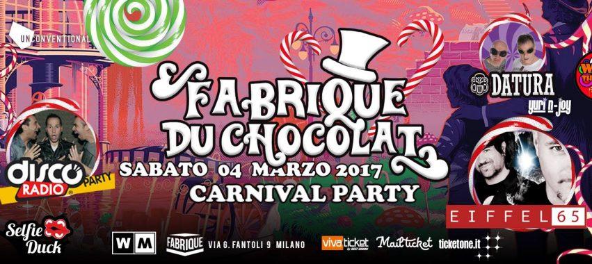 FABRIQUE DU CHOCOLAT @ Fabrique – Milano – Sabato 4 marzo 2017