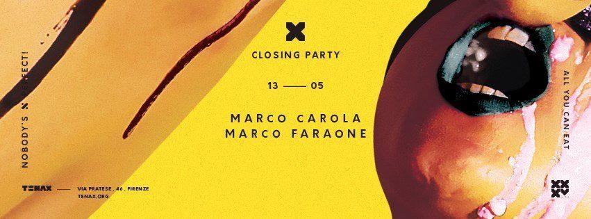 tenax firenze closing party 2017 marco carola faraone