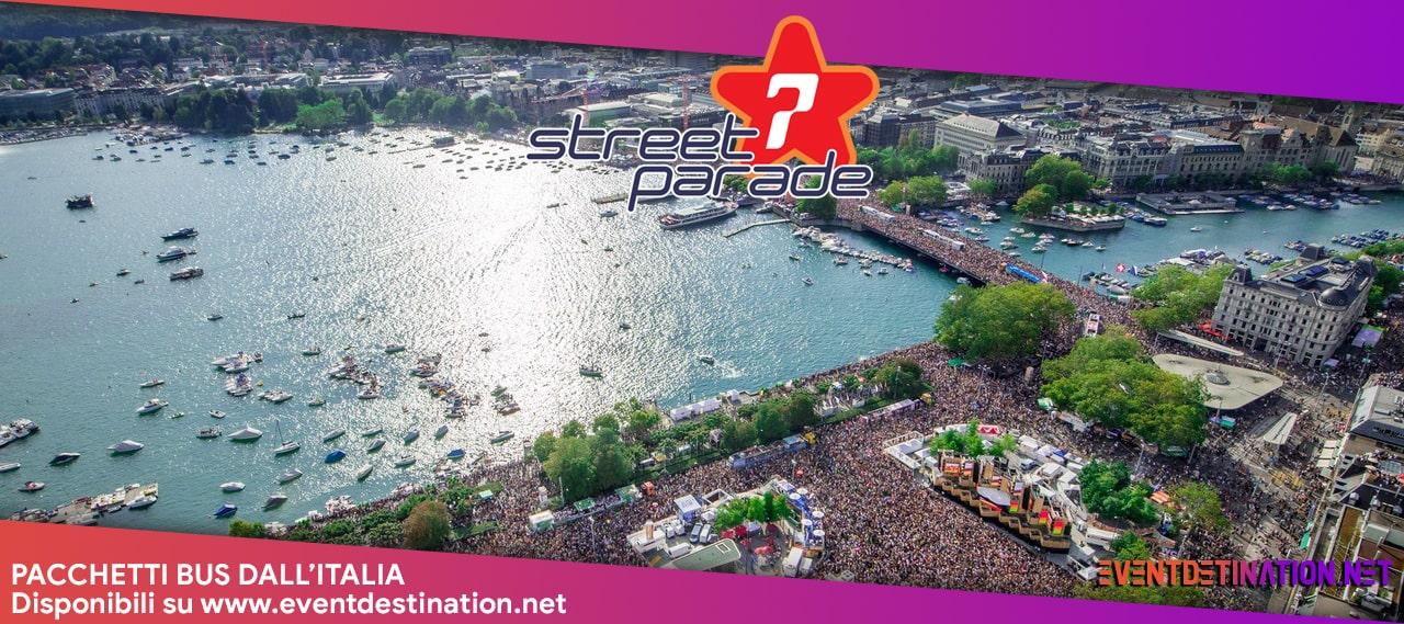 Street Parade Zurigo 2020 – 08 Agosto 2020 Pacchetti Bus Dall'Italia