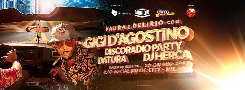 SOCIAL MUSIC CITY w GIGI D'AGOSTINO – 10 Giugno 2017