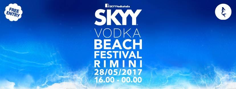 skyy vodka beach Rimini 28 maggio 2017