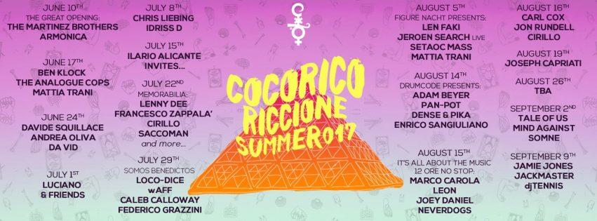 programmazione cocorico summer 2017