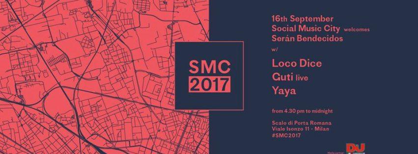 SMC welcomes Ser?n Bendecidos w Loco Dice, Guti live, Yaya 16 settembre 2017