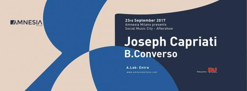 SMC Aftershow w/ Joseph Capriati @ Amnesia – Sabato 2 Settembre 2017
