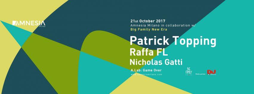 Patrick Topping @ Amnesia Milano – Sabato 21 Ottobre 2017