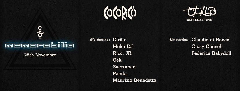 COCORICO – 25 Novembre 2017 – MEMORABILIA