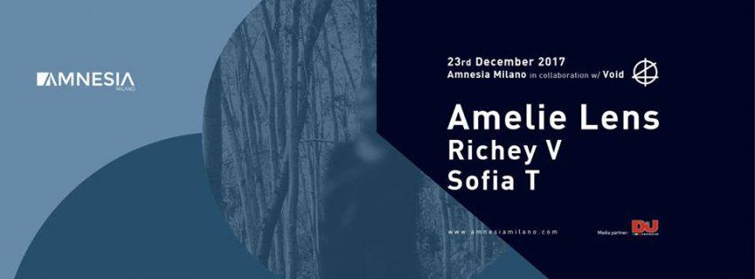 Amelie Lens @ Amnesia Milano – Sabato 23 Dicembre 2017
