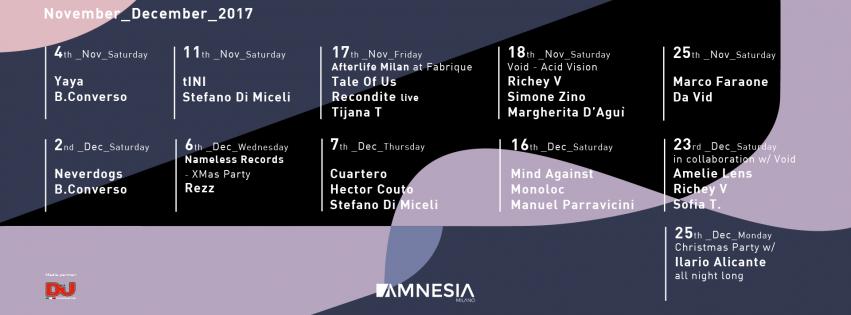 CUARTERO @ Amnesia Milano – Giovedì 7 Dicembre 2017