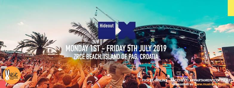 Hideout Festival 01 – 05 Luglio 2019 – Zrce Beach Pag  Croazia