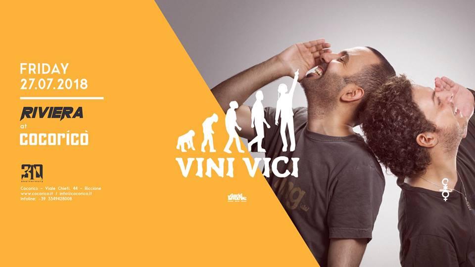 COCORICO' | Riviera w/ Vini Vici  | 27 Luglio 2018