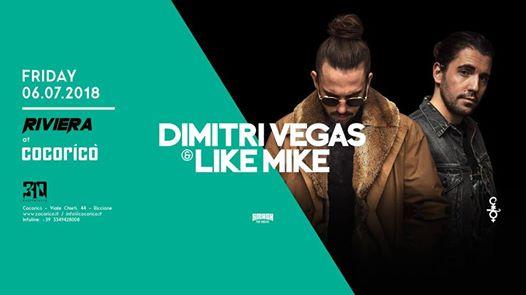 COCORICO' | Riviera w/ Dimitri Vegas & Like Mike  | 06 Luglio 2018