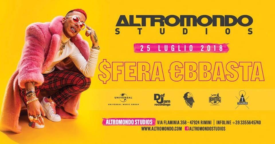 SFERA EBBASTA AT ALTROMONDO 25 LUGLIO 2018