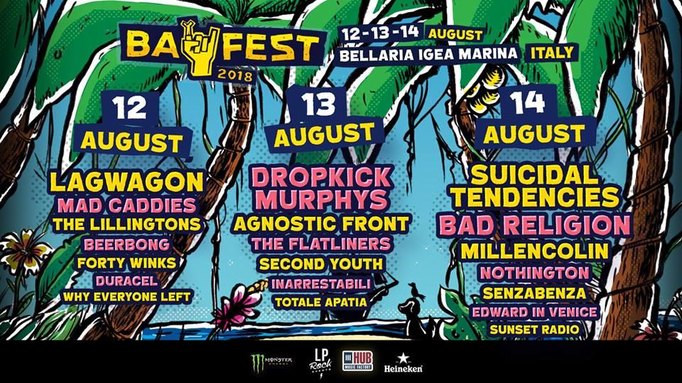 BAY FEST 2018 at Beky Bay Rimini – 12, 13, 14 August 2018