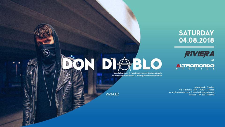 ALTROMONDO | Riviera w/ Don Diablo | 04 Agosto 2018