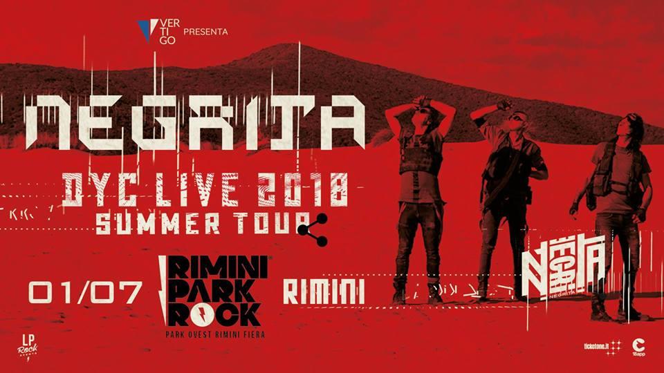 Negrita a Rimini Park Rock – 01 Luglio 2018- Fiera di Rimini