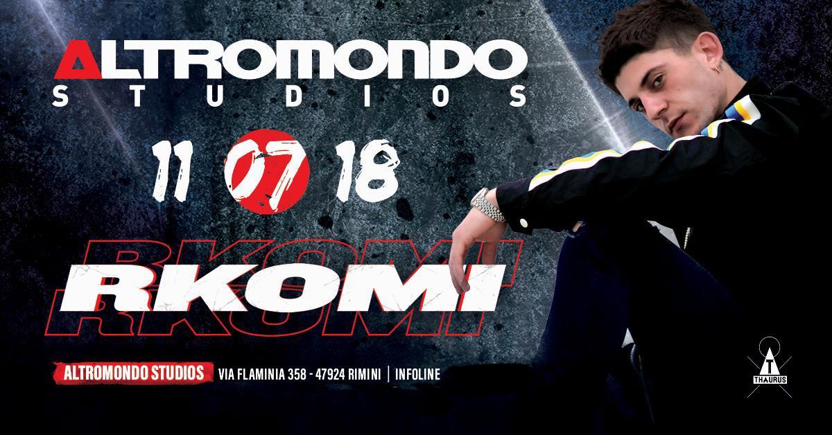 RKOMI AT ALTROMONDO 11 LUGLIO 2018