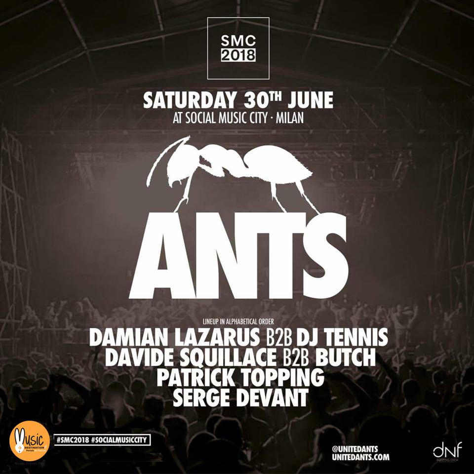 ANTS – Social Music City – Sabato 30 Giugno 2018