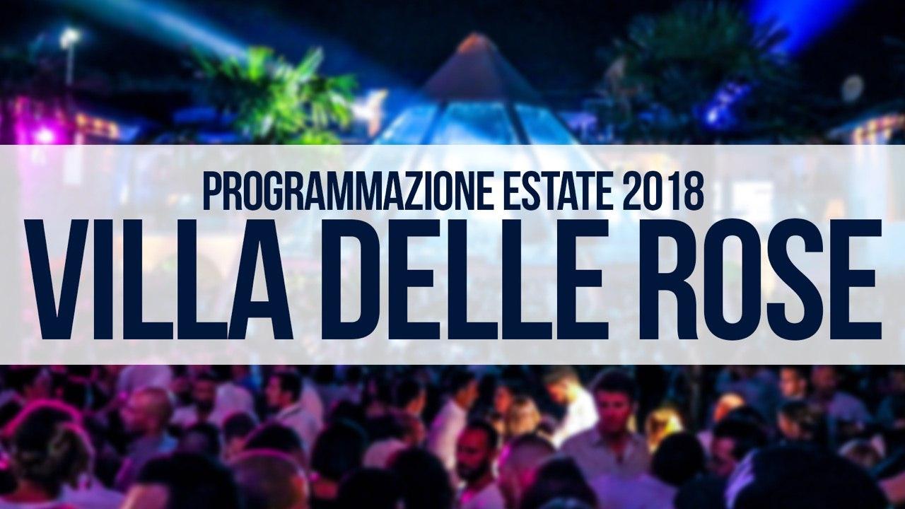 Programma serate ed eventi Villa delle Rose – Calendario Estate 2018