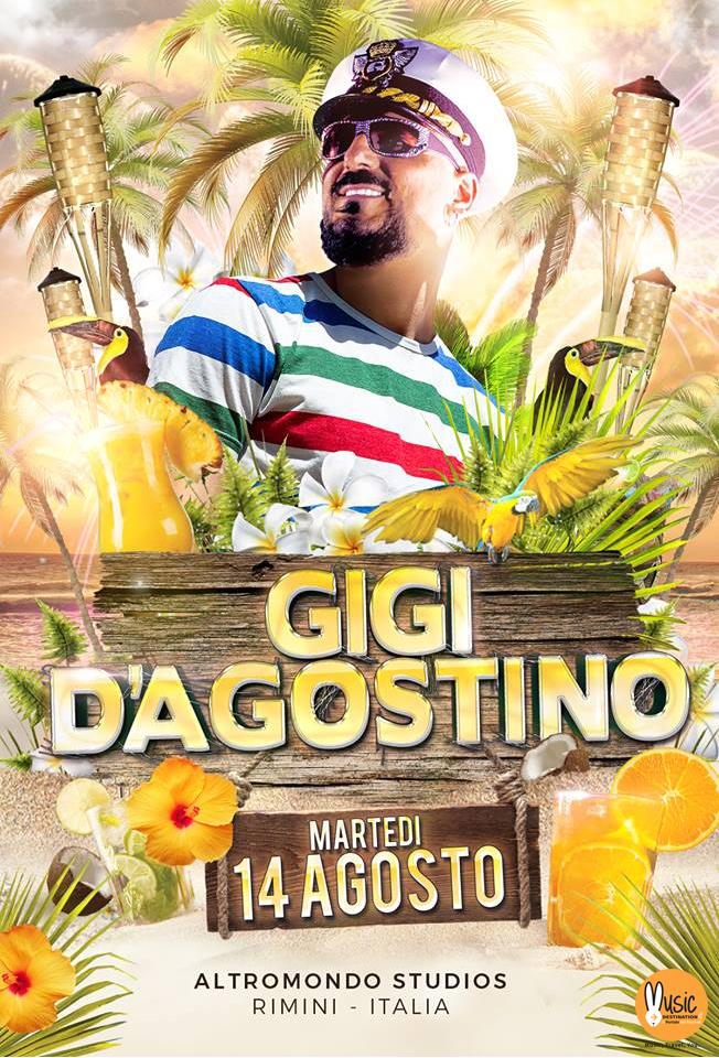 Gigi D'Agostino  – ALTROMONDO STUDIOS – 14 Agosto 2018