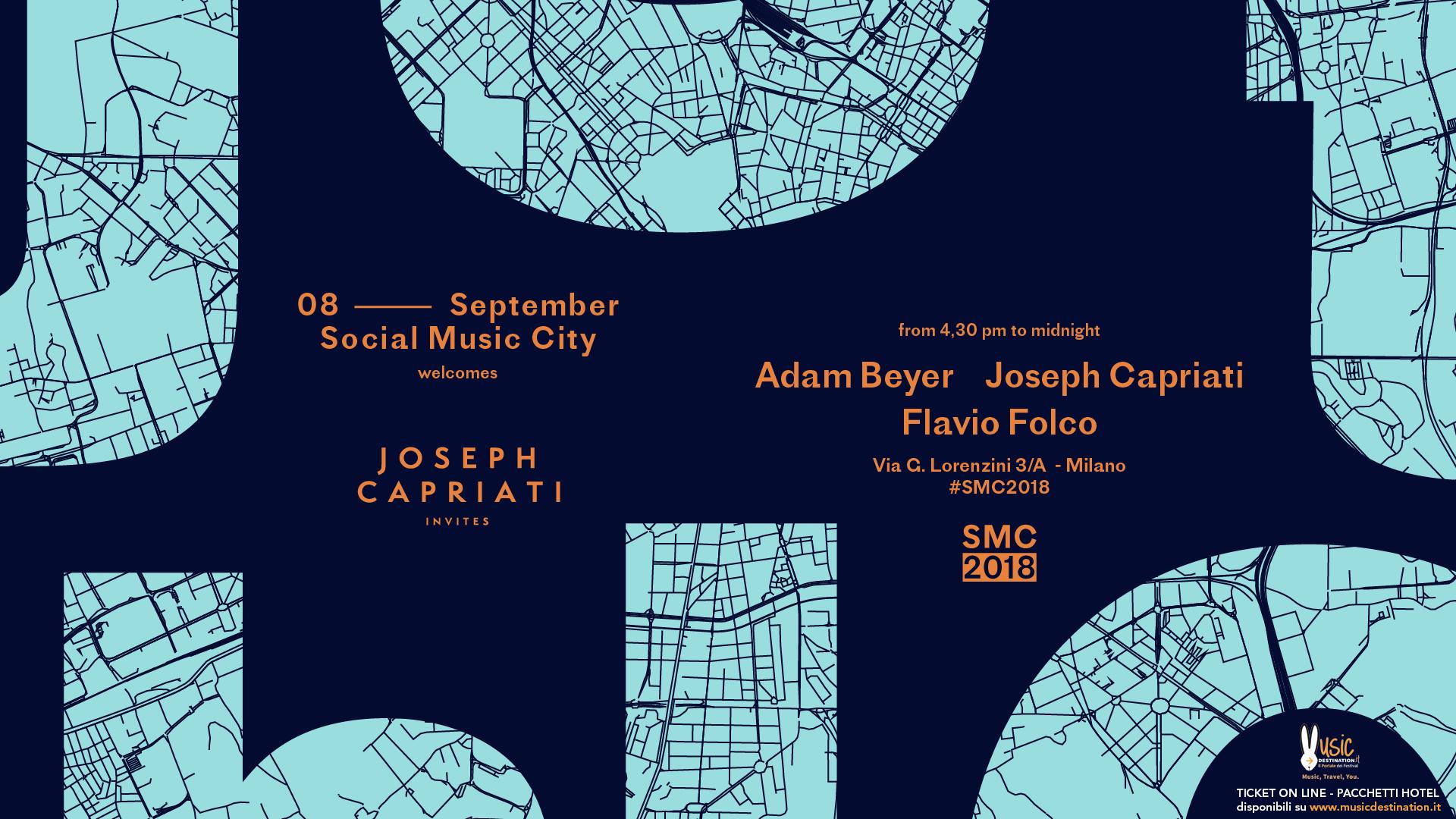 Joseph Capriati Adam Beyer  – Social Music City – 08 Settembre 2018