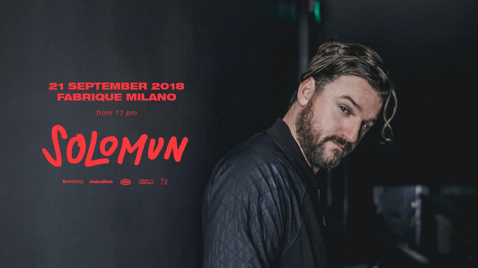 Solomun at Fabrique in Milano – 21 Settembre 2018