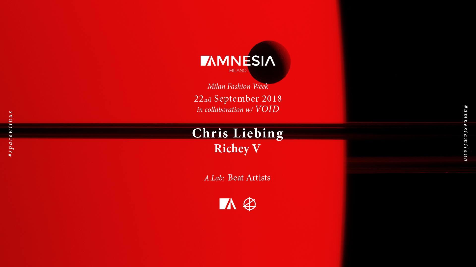 Chris Liebing & Richey V – AMNESIA MILANO – 22 Settembre 2018