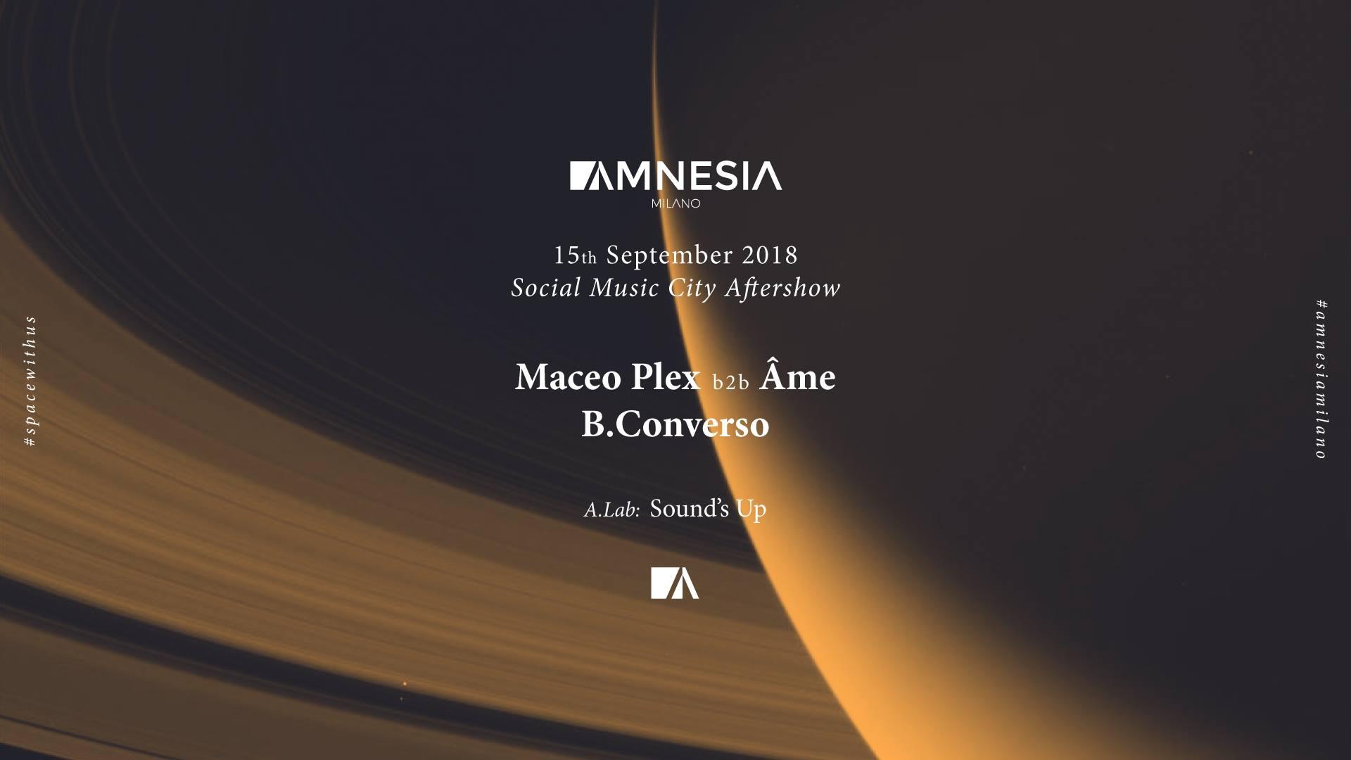 Maceo Plex 15 settembre 2018