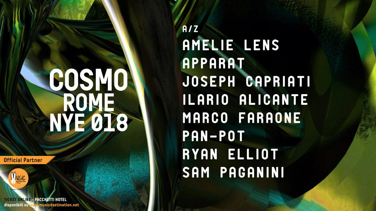 COSMO ROMA FESTIVAL NYE – CAPODANNO 2019 ROMA – Ticket & Pacchetti Hotel