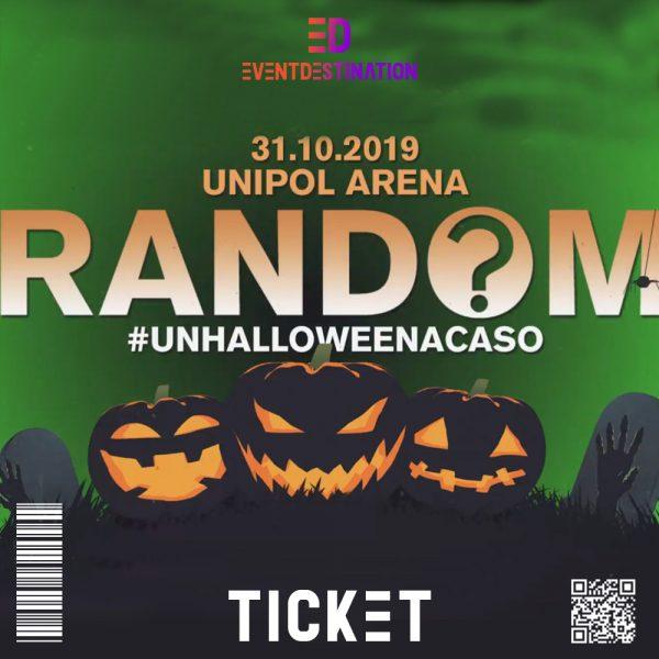 ticket random unipol arena halloween 2019