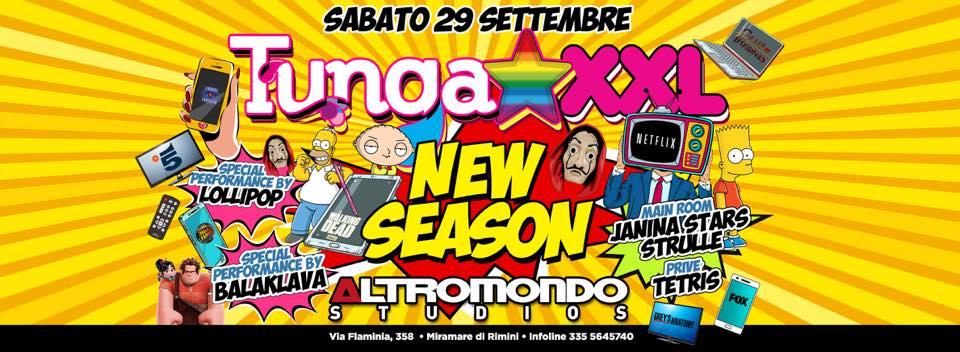 TUNGA XXL – ALTROMONDO STUDIOS –  29 Settembre 2018