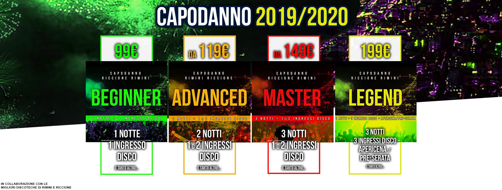 CAPODANNO 2020 A RICCIONE e RIMINI Eventi Pacchetti Hotel e Discoteche