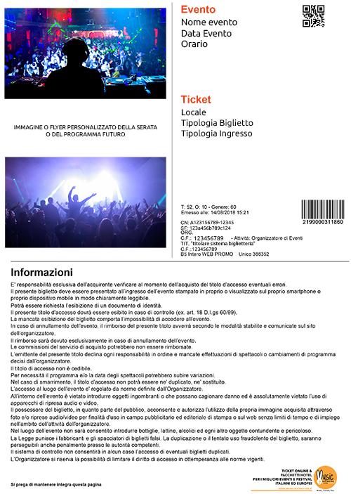 TICKET PDF music destination