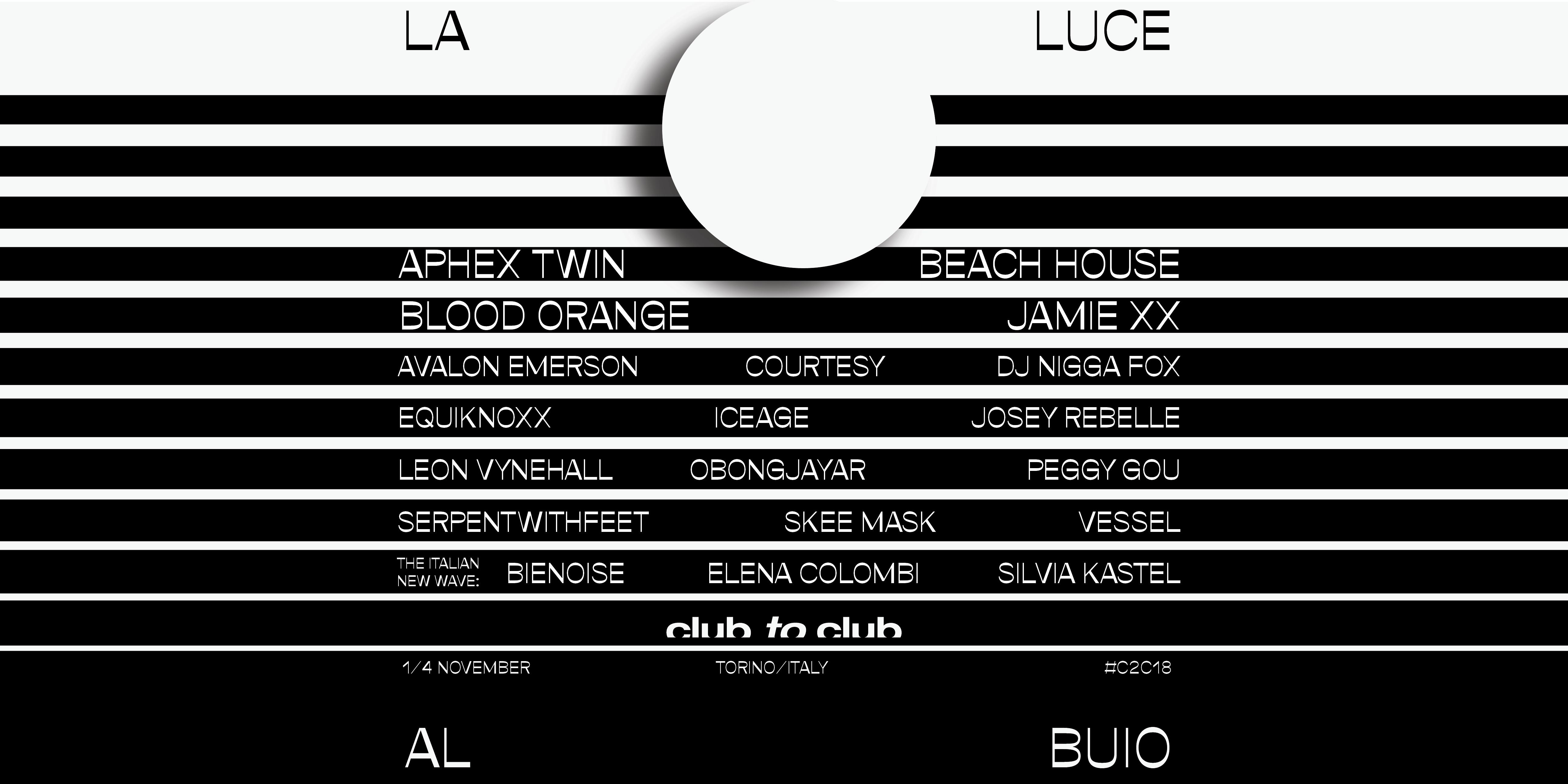 Club to Club 2018 Torino – #C2C18 – Ticket e Pacchetti Hotel
