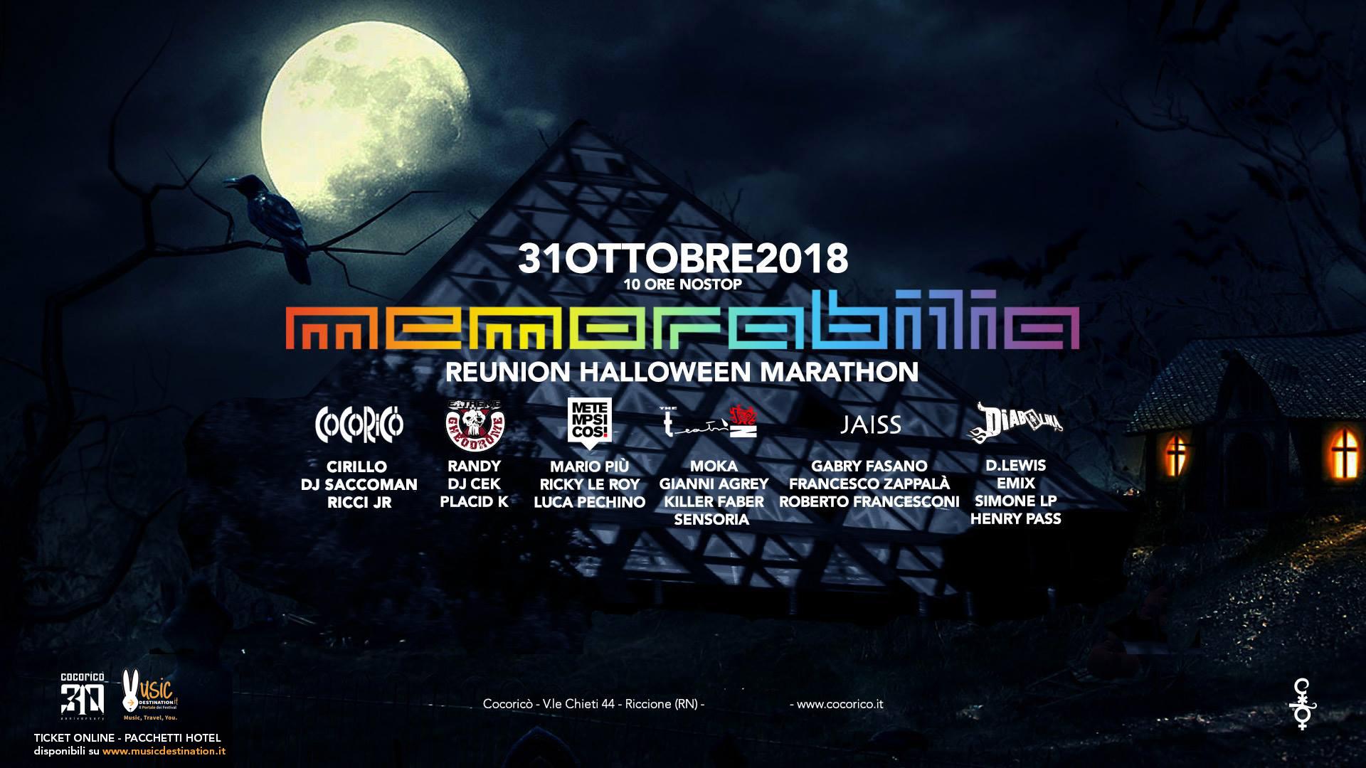 halloween cocorico 2018 memorabilia reunion