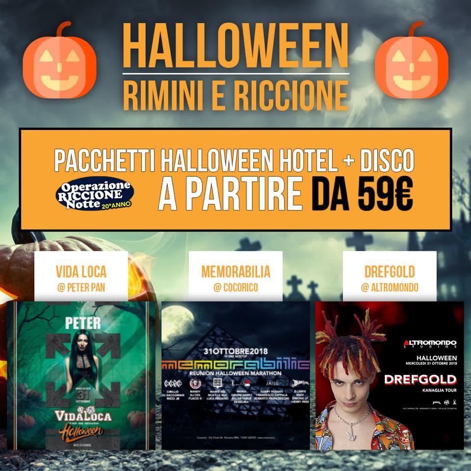 Halloween Riccione – Pacchetti Hotel + Ticket