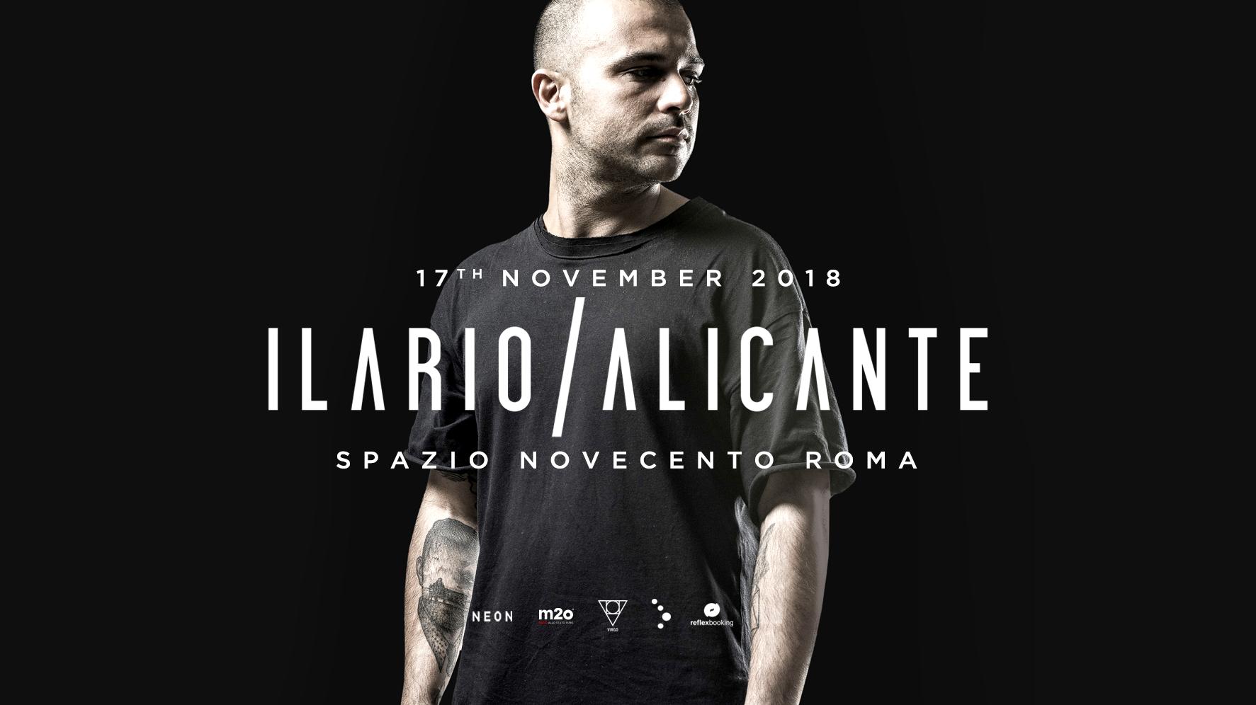 Ilario Alicante @ Spazio Novecento Roma – 17 Novembre 2018 Ticket Pacchetti Hotel