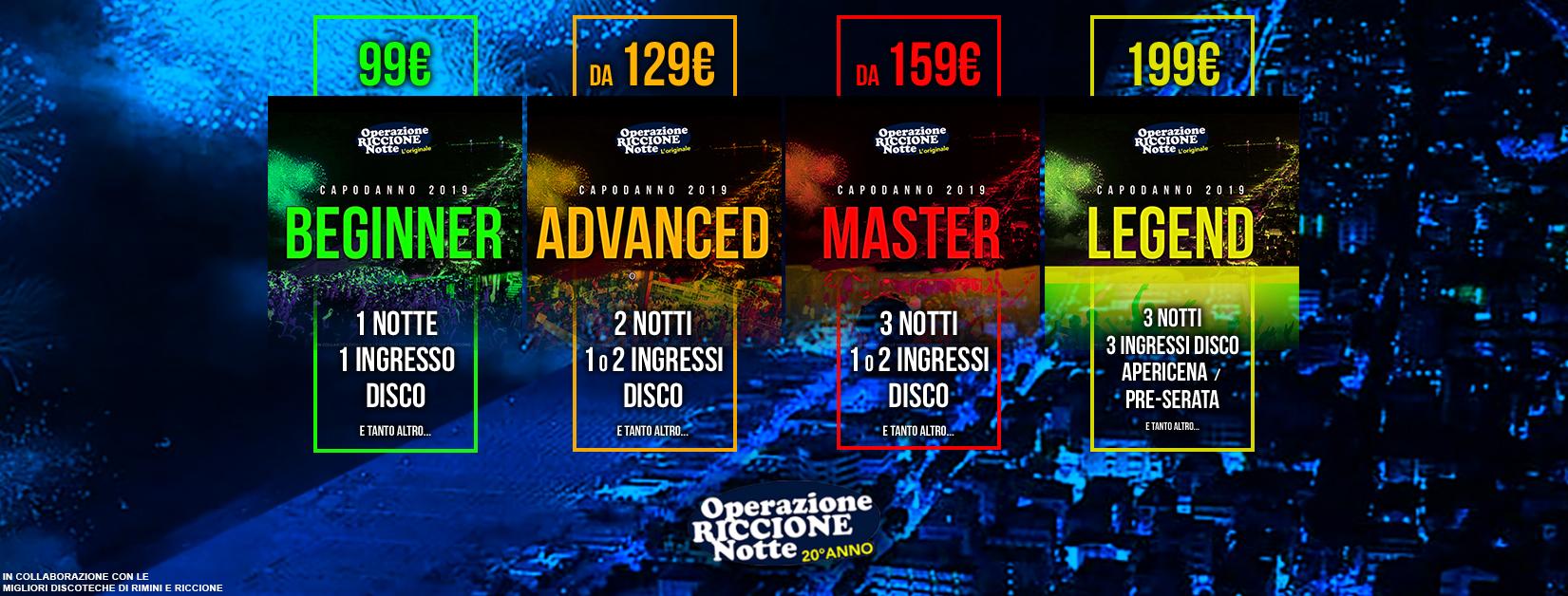 CAPODANNO 2019 A RICCIONE e RIMINI Eventi Pacchetti Hotel e Discoteche