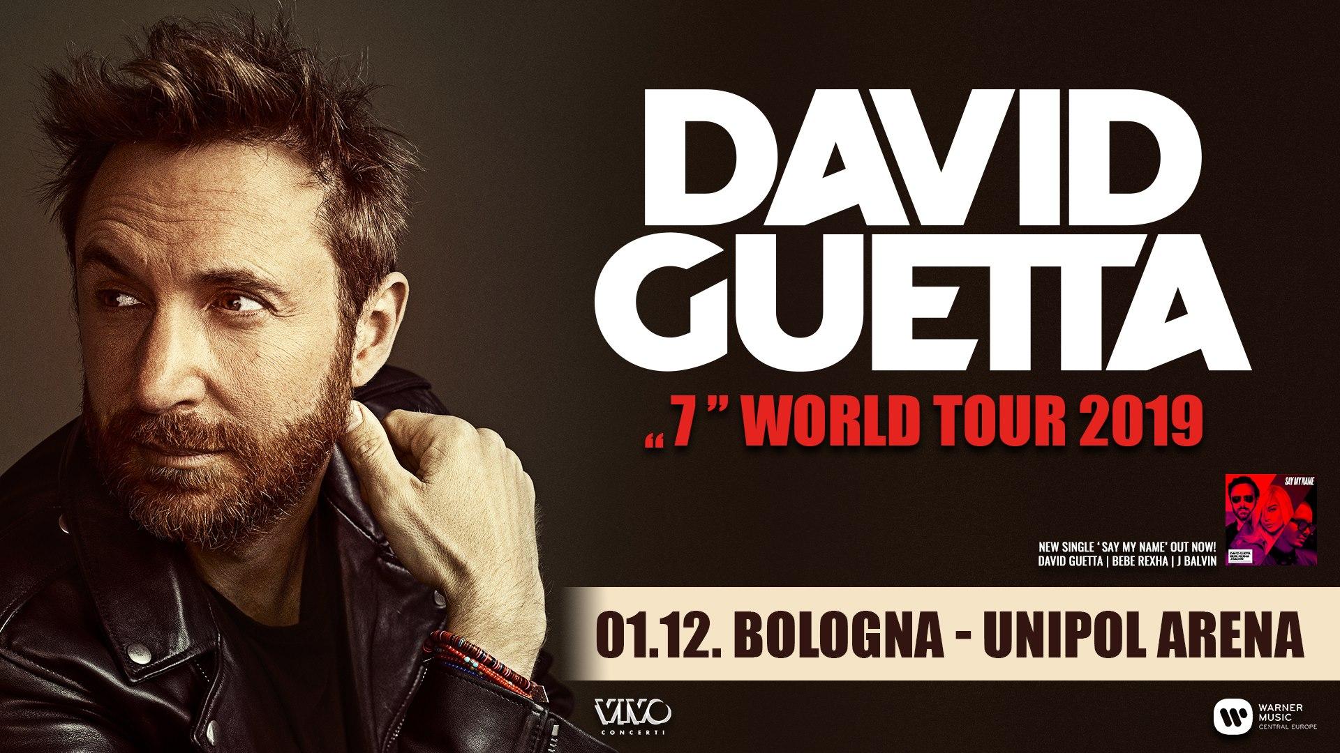 DAVID GUETTA @ Unipol Arena Bologna – 01 DICEMBRE 2019