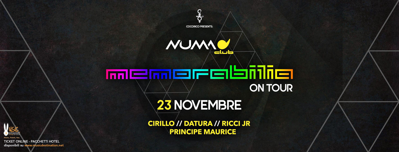 Memorabilia on Tour @ Numa Bologna – 23 Novembre 2018
