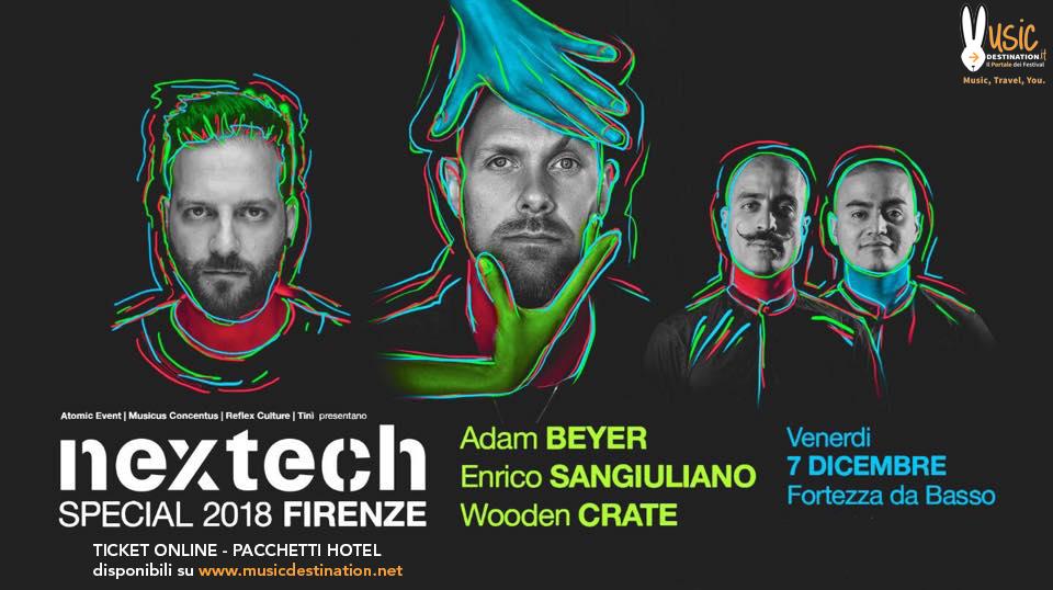 NEXTECH @ Fortezza da Basso (Firenze) – Adam Beyer – 07 Dicembre 2018