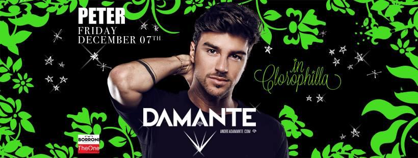 DAMANTE @Peter Pan Riccione – Venerdì 7 Dicembre 2018 – Ticket Pacchetti Hotel