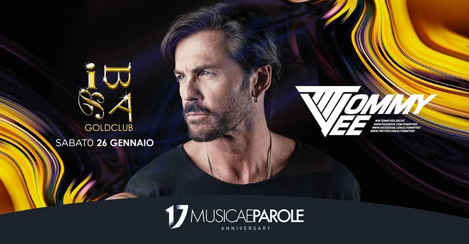 Tommy Vee at Biba Goldclub – Sabato 26 Gennaio 2019 – Compleanno Musicaeparole – Ticket e Pacchetti Hotel