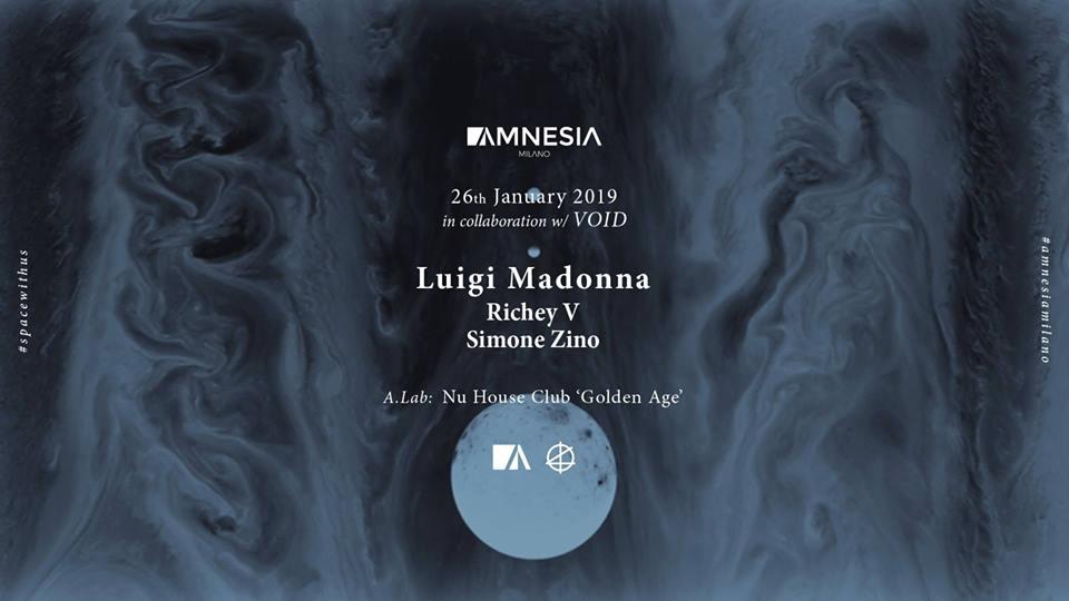 Luigi Madonna @ Amnesia Milano – 26 Gennaio 2019 – Ticket e Pacchetti Hotel