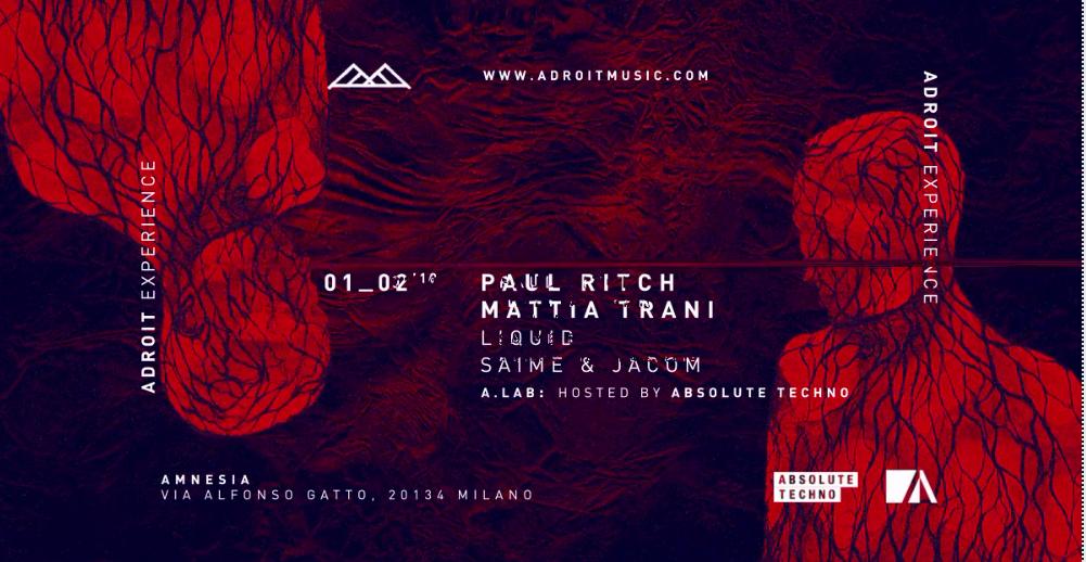 Paul Ritch @ Amnesia Milano – 1 Febbraio 2019 – Ticket e Pacchetti Hotel