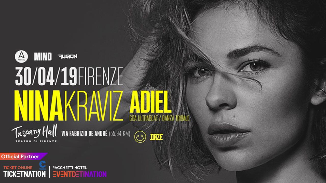 Nina Kraviz at Tuscany Hall – Martedi 30 Aprile 2019 – Ticket e Pacchetti Hotel