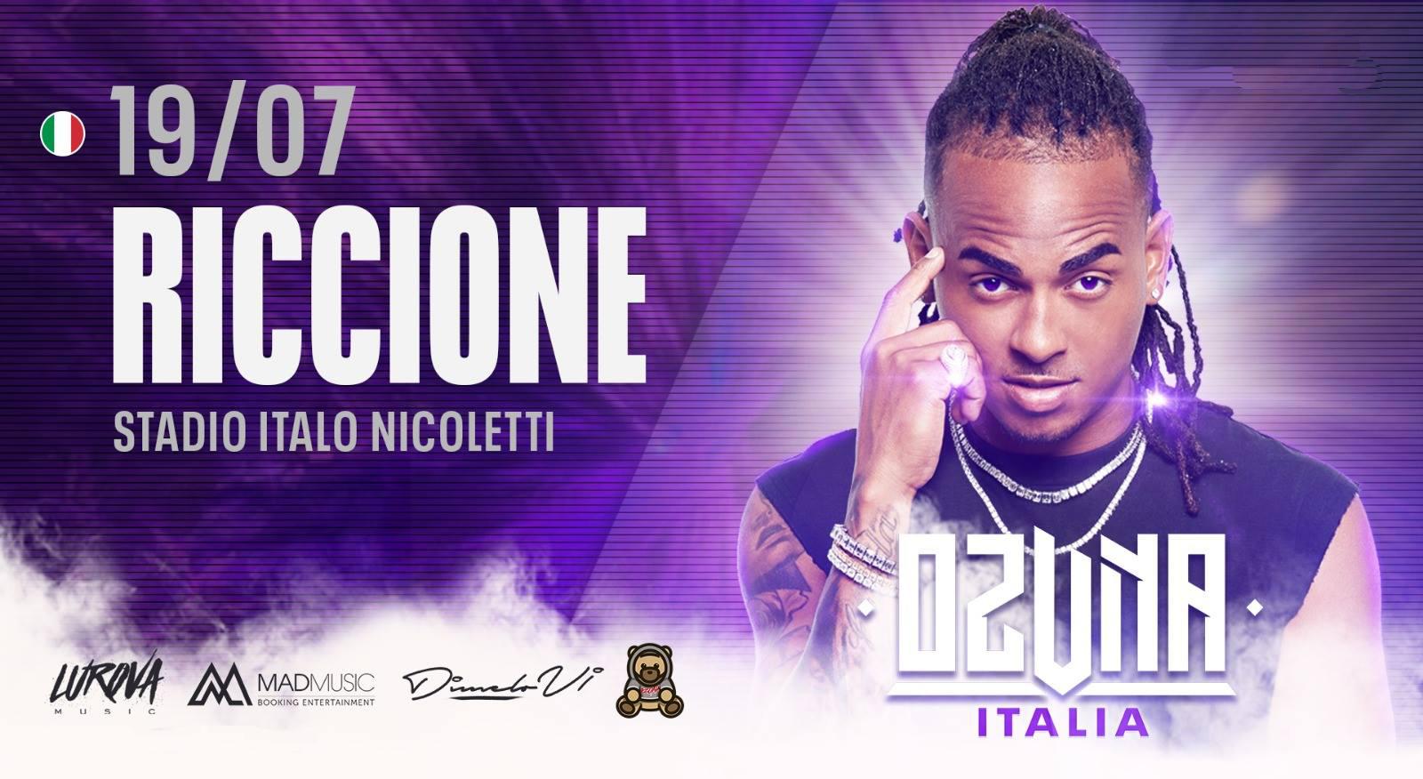Ozuna in concerto Stadio Comunale Riccione – Venerdì 19 Luglio 2019 – Ticket Pacchetti Hotel