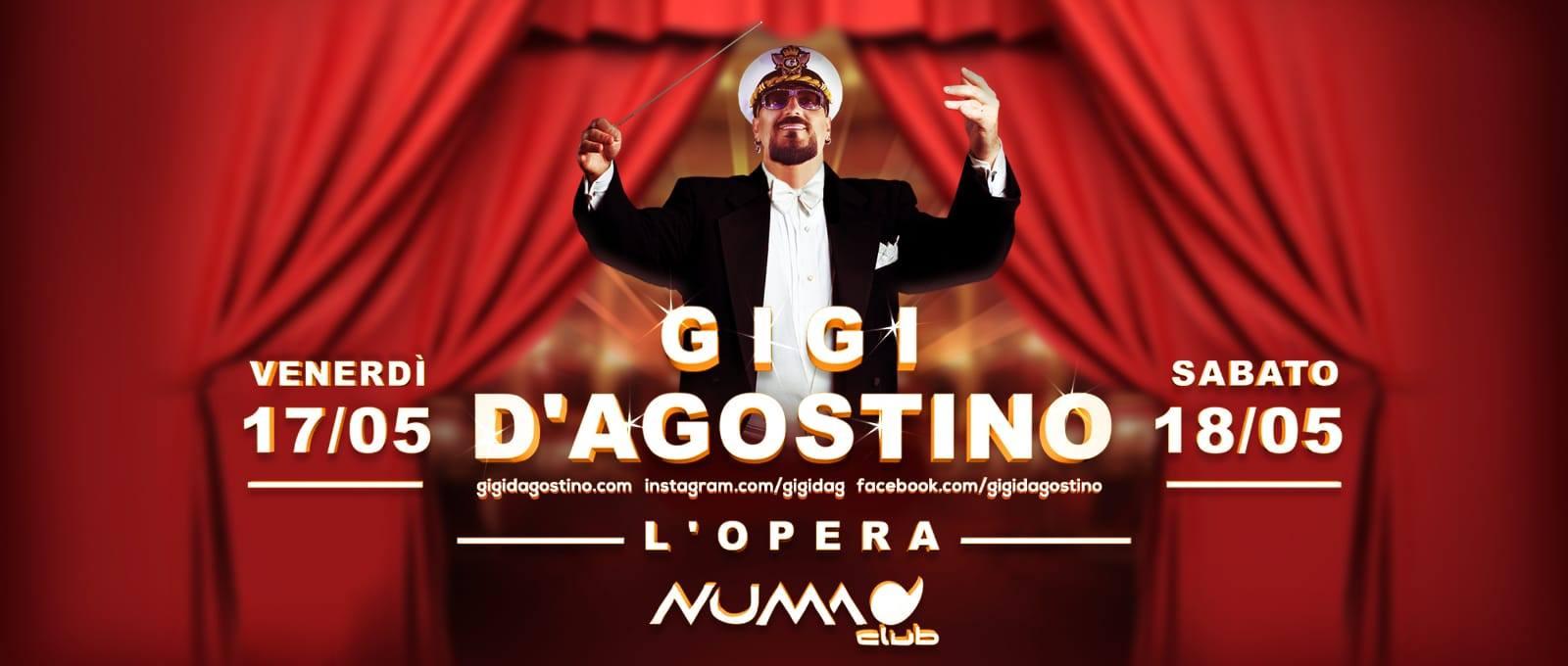 Gigi D'agostino @ Numa Bologna – 17 e 18  Maggio 2019 – Ticket Pacchetti Hotel