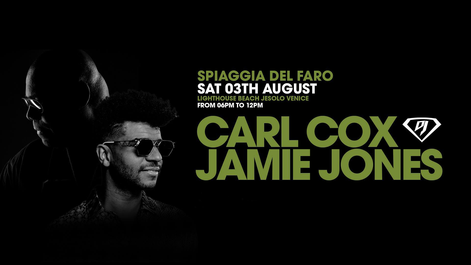 Spiaggia del Faro Jesolo Carl Cox + Jamie Jones – Ticket e Pacchetti Hotel